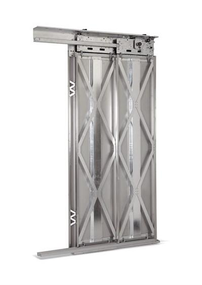 TELESCOPIC 2 PANEL LANDING DOOR